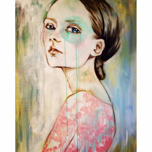 """Blue spot"" Akryl på lærred 80 x 100"
