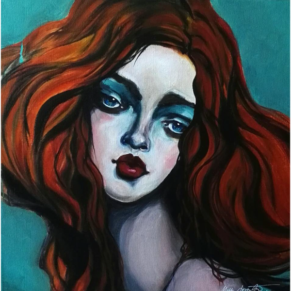 Red hair_60x60_akryl-paa-laerred