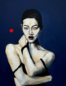 "Maleri ""Embrace"" 100x130cm - akryl på lærrred"